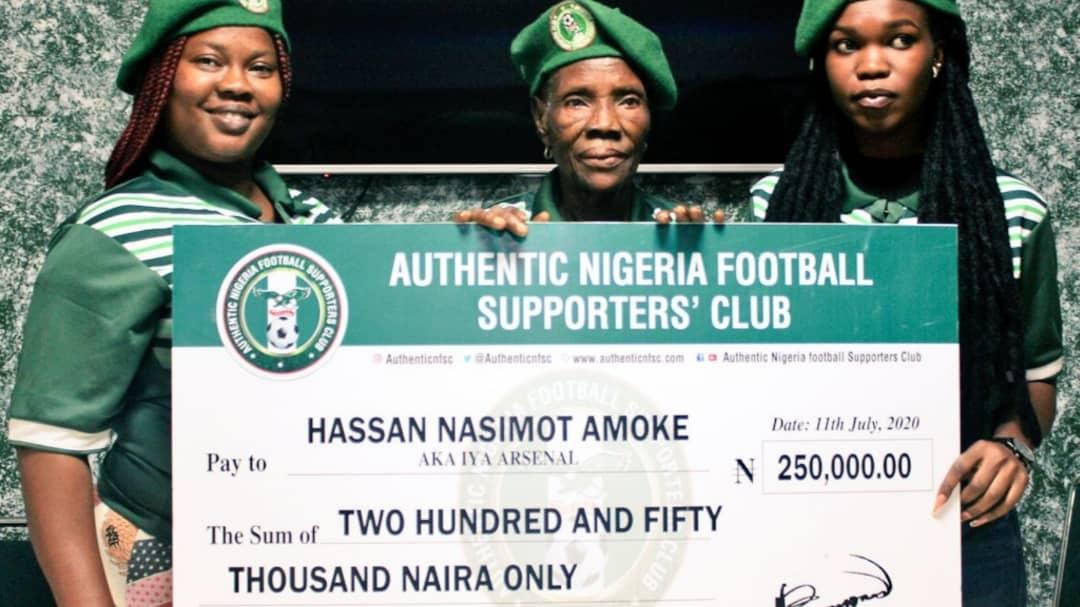 Authentic Nigeria Football Supporters Club Unveils Hassan Amoke (Iya Arsenal) As Brand Ambassador